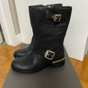 Vince camuto black leather boots 8.5 New